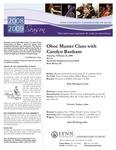 2008-2009 Master Class - Carolyn Banham (Oboe)