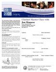 2008-2009 Master Class - Jon Manasse (Clarinet)