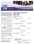 2008-2009 Master Class - Peter Wiley (Cello)