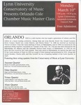 2007-2008 Master Class - Orlando Cole (Chamber Music)