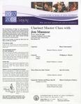2007-2008 Master Class - Jon Manasse (Clarinet)
