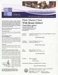 2007-2008 Master Class - Renée Siebert (Flute) by Renée Siebert, David Suarez, Oderlyn Gutiez, Luis Bautista, Kasia Paciorkowska, and Yang Shen