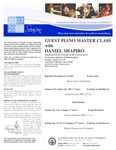 2007-2008 Master Class - Daniel Shapiro (Piano)