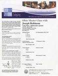 2007-2008 Master Class - Joseph Robinson (Oboe) by Joseph Robinson, Yang Shen, John Weisberg, Nick Thompson, Noah Redstone, Charles Swan, and Veroslav Taskov