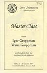 2001-2002 Master Class - Igor Gruppman (Violin) and Vesna Gruppman (Violin) by Igor Gruppman, Vesna Gruppman, Cristina Vaszilcsin, Sylvia Kim, Lisa Jung, and Angel Valchinov