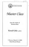 1999-2000 Master Class - Kemal Gekic (Piano)