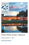 2019-2020 Master Class - Kristin Wolfe Jensen (Bassoon)