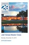 2019-2020 Master Class - Joël Vaïsse (Trombone)