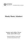 2008-2009 Mostly Music: Schubert by Arlene Sparks, Jon Manasse, Tao Lin, Valeriya Polunina, Carol Cole, Ralph Fielding, David Cole, Timothy Cobb, Roberta Rust, Marshall Turkin, and Jan McArt