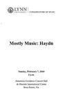 2009-2010 Mostly Music: Haydn by Roberta Rust, David Cole, Tao Lin, Jessica Willis, Sabatino Scirri, Aziz Sapaev, Carol Cole, Jon Robertson, Marshall Turkin, and Jan McArt
