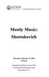 2009-2010 Mostly Music: Shostakovich