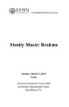 2009-2010 Mostly Music: Brahms