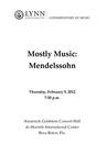 2011-2012 Mostly Music: Mendelssohn