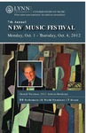 2012-2013 New Music Festival by Donald Waxman and Lisa Leonard