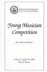 1999-2000 Young Musician Competition - Winds and Brass by Kira Mulcahy, Luis Piccinelli, Rhonda McKeehan, Matthew O'Brien, Jason Sloan, and mark Cartwright