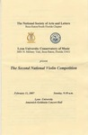 2006-2007 NSAL Violin Competition by Conservatory of Music and The National Soceity of Arts and Letters