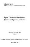 2010-2011 Lynn Chamber Orchestra Concert by Terence Kirchgessner