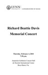 2009-2010 Richard Beattie Davis Memorial Concert by Richard Beattie Davis, Marc Reese, Lisa Leonard, José Menor, Jeffrey Karlson, Nikola Nikolovski, Mario Lopez, Gentry Barolet, Julio Cruz, Tiago Neto, and Jonah Kim