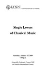 2008-2009 Single Lovers of Classical Music