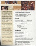2004-2005 Chopin Birthday Concert by Oliver Salonga, Karl van Richards, Johanne Perron, Tao Lin, Simona Armbruster, and Roberta Rust