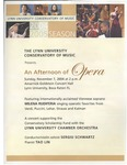 2004-2005 An Afternoon of Opera by Milena Rudiferia, Sergiu Schwartz, Tao Lin, Johanne Perron, and Lynn University Chamber Orchestra