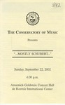 2002-2003 Mostly Schubert by Laura Wilcox and Jose R. Lopez