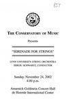 2002-2003 Serenade for Strings