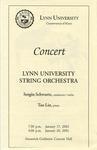 2001-2002 Lynn University String Orchestra