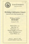 2001-2002 Birthday Celebration Concert - Wolfgang Amadeus Mozart