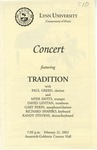 2001-2002 Concert featuring Tradition by Paul Green, Myer Savits, Dave Levitan, Gary Perin, Richard Shapiro, and Randy Stevens