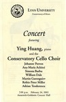 2001-2002 Concert featuring Ying Huang and Conservatory Cello Choir by Ying Huang, Johanne Perron, Ana Maria Achitei, Simona Barbu, William Dale, Martin Gueorguiev, Robin Miller, and Adrian Teodorescu