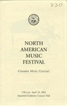 2001-2002 North American Music Festival - Chamber Music Concert