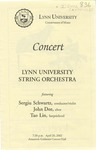 2001-2002 Lynn University String Orchestra by Lynn University String Orchestra, Sergiu Schwartz, John Dee, and Tao Lin