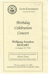 2000-2001 Bithday Celebration Concert: Wolfgang Amadeus Mozart by Arthur Weisberg, Johanne Perron, Cristian Mandu, Laura Wilcox, Roberta Rust, and Claudio Jaffé