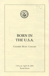 2000-2001 Born in the U.S.A. - Chamber Music Concert