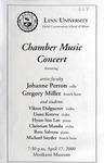 1999-2000 Chamber Music Concert by Johanne Perron, Gregory Miller, Viktor Dulguerov, Liana Koteva, Hyun-Soo Lee, Cristian Mandu, Ross Salvosa, and Michael Snyder