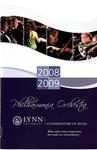 2008-2009 Philharmonia Season Program by Lynn University Philharmonia, Jon Robertson, Sergei Babayan, Albert George Schram, Carol Cole, Ralph Fielding, and Nadine Sierra