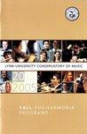2004-2005 Philharmonia Season Program Fall