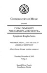 2003-2004 Symphonic Knights Series No. 2 by Lynn University Philharmonia and Albert George Schram