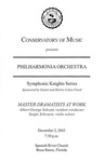 2003-2004 Symphonic Knights Series No. 3 by Lynn University Philharmonia, Albert George Schram, and Sergiu Schwartz