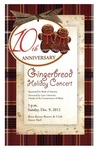 2012-2013 Gingerbread Holiday Concert