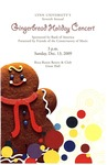 2009-2010 Gingerbread Holiday Concert