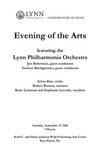 2011-2012 Evening of the Arts featuring Lynn Philharmonia Orchestra