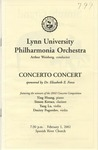 2001-2002 Lynn University Philharmonia Orchestra - Concerto Concert
