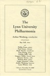 2000-2001 The Lynn University Philharmonia by Lynn University Philharmonia, Arthur Weisberg, Roberta Rust, Phillip Evans, Ying Huang, Gregory Miller, Mark Hetzler, Ray Still, Paul Green, Johanne Perron, Claudio Jaffé, Sergiu Schwartz, and Laura Wilcox