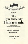 2000-2001 The Lynn University Philharmonia