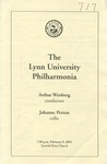 2000-2001 The Lynn University Philharmonia by Lynn University Philharmonia, Arthur Weisberg, and Johanne Perron