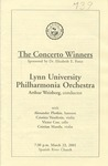 2000-2001 Lynn University Philharmonia Orchestra - The Concerto Winners by Lynn University Philharmonia, Arthur Weisberg, Alexander Plotkin, Cristina Vaszilcsin, Victor Coo, and Cristian Mandu