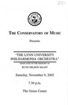 2002-2003 The Lynn University Philharmonia Orchestra