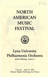 2001-2002 North American Music Festival by Lynn University Philharmonia and Arthur Weisberg